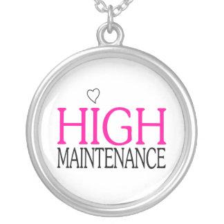 High Maintenance Round Pendant Necklace