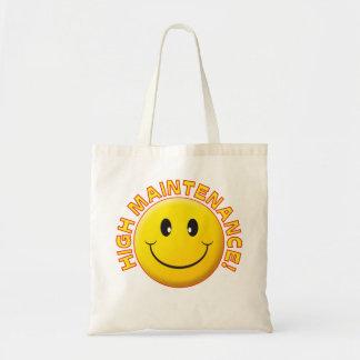 High Maintenance Smile Canvas Bag