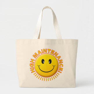 High Maintenance Smiley Tote Bags
