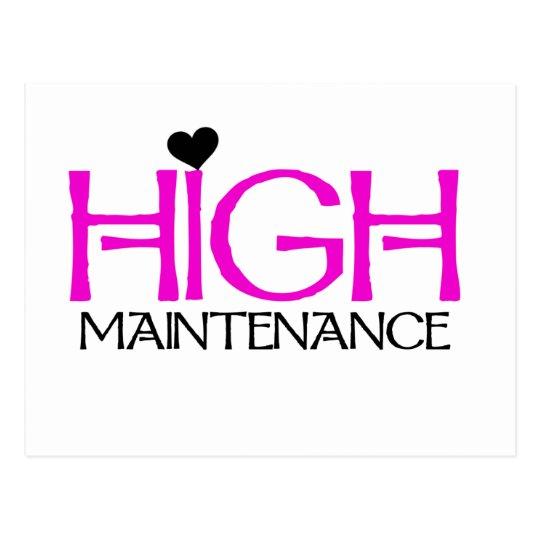 High Maintenance Tshirts and Gifts Postcard