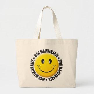 High Manitenance Smiley Tote Bag