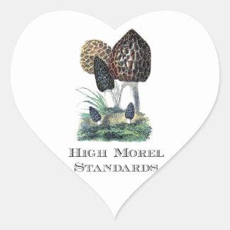 High Morel Standards Heart Sticker