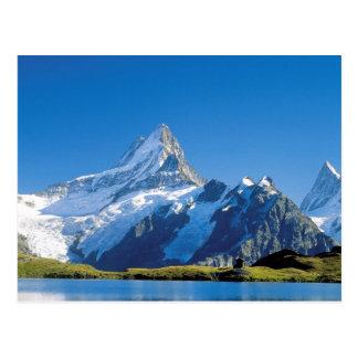 High mountain lake postcard