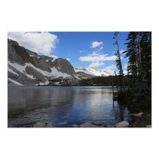 High Mountain Lake Scenic Poster