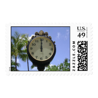 High Noon Time in Waikiki Beach Honolulu Hawaii Stamps