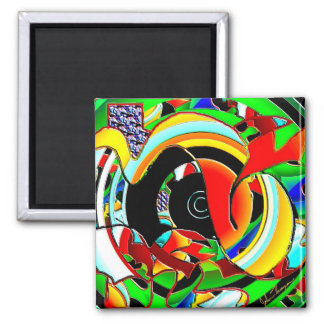 High Notes 2 Inch Square Magnet