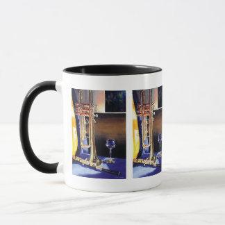 """""""High Notes"""" Musical Instruments Watercolor Mug"""