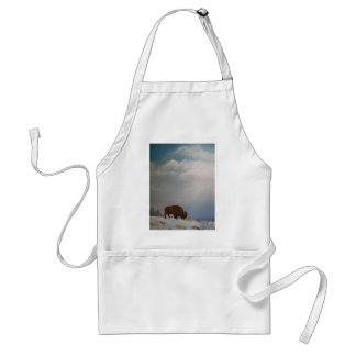 High on a windy hill. adult apron