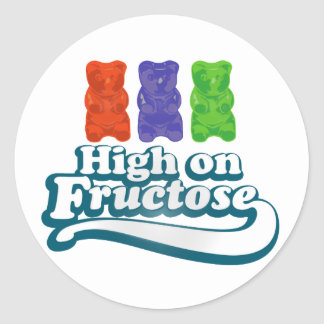 High on Fructose Classic Round Sticker