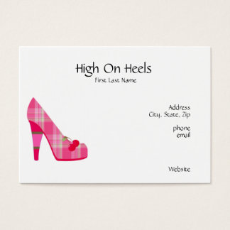 High on Heels Business Cards