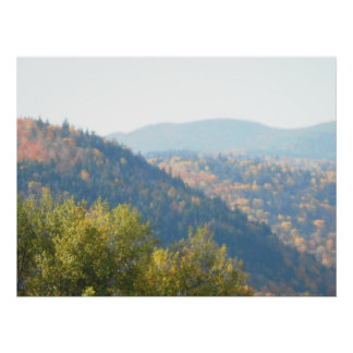 High Peaks Adirondacks Autumn Mountains Forest Poster