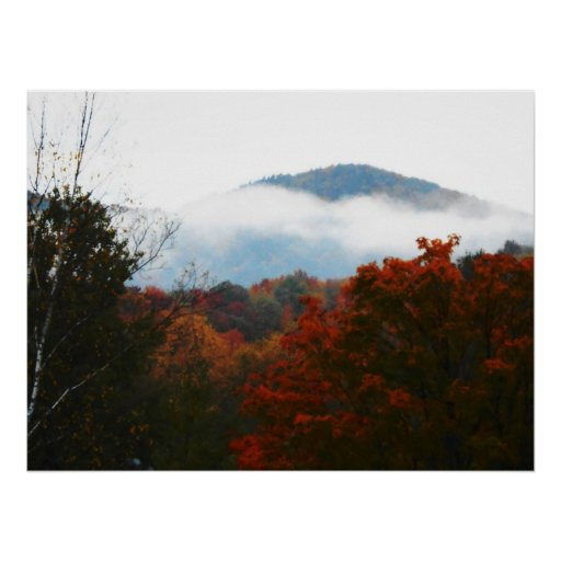 High Peaks Adirondacks Autumn Mountains Forest Posters