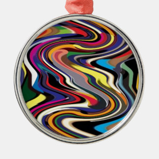 High Performance Adrenaline : Pushing Boundaries Round Metal Christmas Ornament