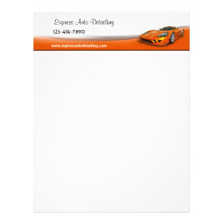 High Performance Auto Letterhead