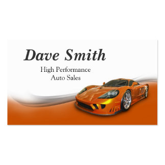 High Performance Automotive Sales & Service Business Card Template