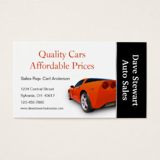 High Performance Automotive Service Shop Business Card