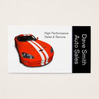 High Performance Car Dealer Business Card
