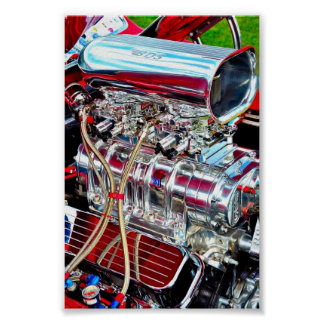 High Performance Car Engine Poster