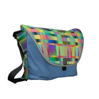 High Plaidometry Messenger Bag