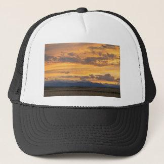 High Plains Meet the Rocky Mountains at Sunset Trucker Hat