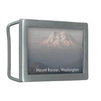 HIGH POINT Mount Rainier Washington Rectangular Belt Buckles