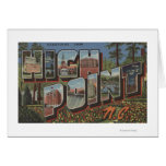 High Point, North Carolina - Large Letter Scenes Greeting Card