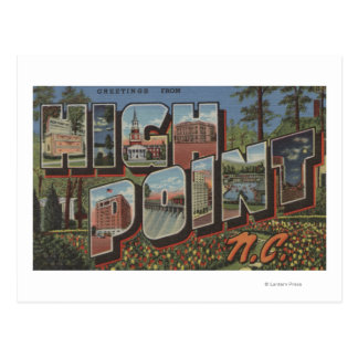 High Point, North Carolina - Large Letter Scenes Postcard
