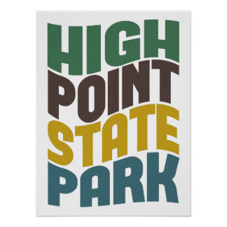 High Point State Park Retro Wave Poster
