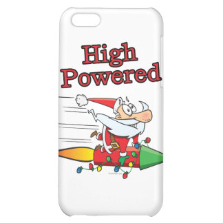 high powered rocket santa toon case for iPhone 5C