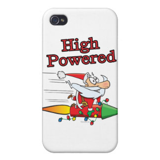high powered rocket santa toon case for iPhone 4