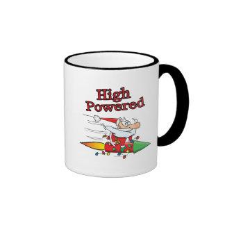 high powered rocket santa toon mug