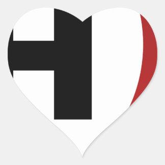 High Pressure System Weather Icon Heart Sticker