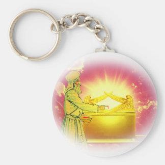 High Priest Applying Blood Basic Round Button Keychain
