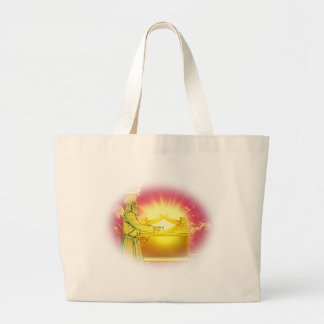 High Priest Applying Blood Large Tote Bag
