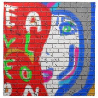 High Priestess Face Never Alone Graffiti Art Cloth Napkin
