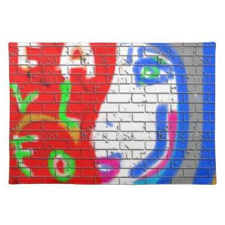 High Priestess Face Never Alone Graffiti Art Cloth Placemat