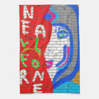 High Priestess Face Never Alone Graffiti Art Hand Towels