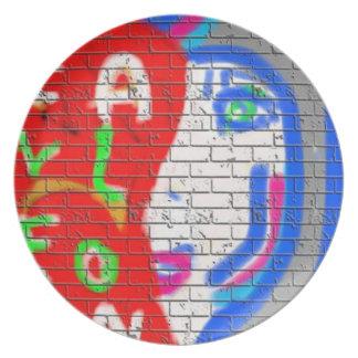High Priestess Face Never Alone Graffiti Art Melamine Plate