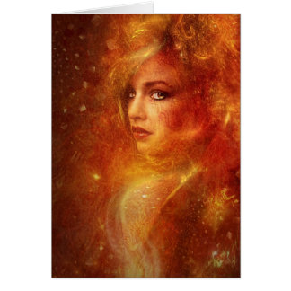 High Priestess Fire Card