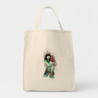 High priestess of Cthulhu Grocery Tote Bag