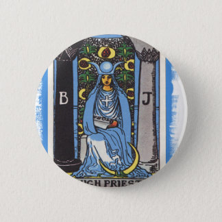 High Priestess Tarot Card Fortune Teller Button