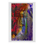 High Priestess Tarot Card Psychedelic Poster