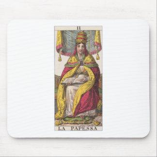 High Priestess Vintage Tarot Mouse Pad