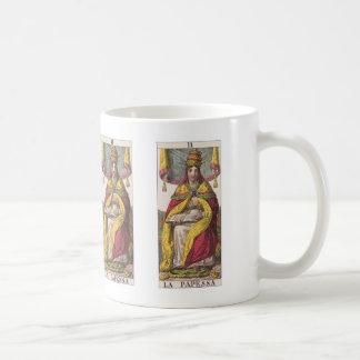 High Priestess Vintage Tarot Classic White Coffee Mug