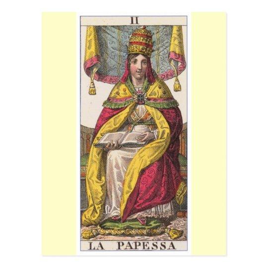 High Priestess Vintage Tarot Postcard
