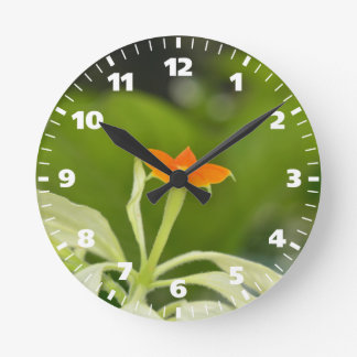High Quality Floral Photo Round Clock