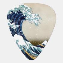 High Quality Great Wave off Kanagawa by Hokusai Guitar Pick