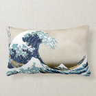 High Quality Great Wave off Kanagawa by Hokusai Lumbar Pillow