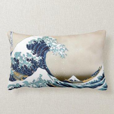 cielart High Quality Great Wave off Kanagawa by Hokusai Lumbar Pillow