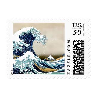 High Quality Great Wave off Kanagawa by Hokusai Postage